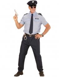 Blauw politie agent kostuum voor mannen