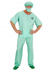 Groen chirurg kostuum voor mannen
