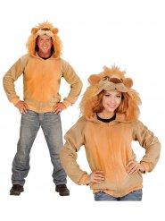 Leeuwen vest met capuchon voor volwassenen
