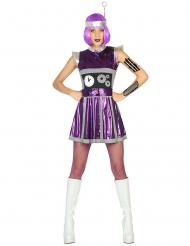 Paars robot kostuum voor vrouwen