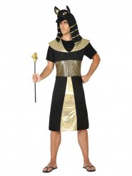 Zwart en goudkleurig farao kostuum voor mannen