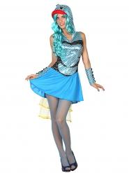 Blauwe vis kostuum voor vrouwen