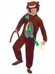 Grappige bruin apen kostuum voor volwassenen
