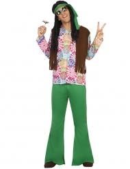 Groen hippie kostuum voor mannen