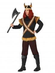 Viking strijder kostuum met helm voor mannen