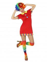 Schattige rode clown kostuum voor vrouwen
