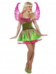 Groen en roze magische fee kostuum voor vrouwen