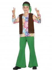 Groen hippie kostuum voor jongens