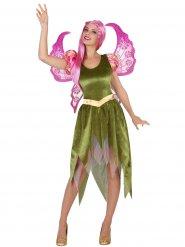 Groene elf kostuum voor vrouwen