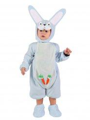 Wit en blauw konijn kostuum voor baby