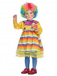 Veelkleurig clown kostuum voor baby