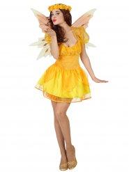 Gele fee kostuum voor vrouwen
