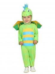 Klein groen dinosaurus kostuum voor baby