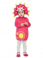 Roze dinosaurus kostuum voor baby
