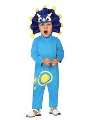 Blauw dinosaurus pak voor kinderen