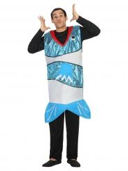 Blauwe vis kostuum voor volwassenen