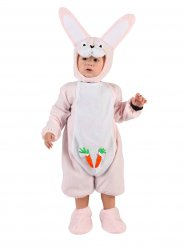 Roze konijn kostuum voor baby's
