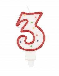 Cijfer 3 verjaardagskaars