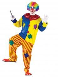 Veelkleurig clown kostuum voor mannen - Grote Maten