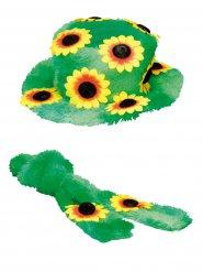 Hippie hoed en sjaal voor volwassenen