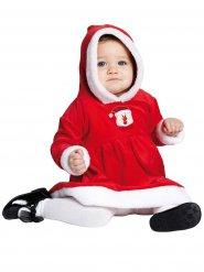 Kleine kerstvrouw kostuum voor baby