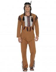 Bruin indiaan kostuum voor mannen