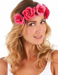 Roze bloemenkrans voor vrouwen