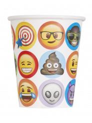 8 kartonnen Emoji™ bekers