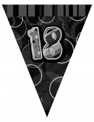 Grijze 18 jaar verjaardagsslinger