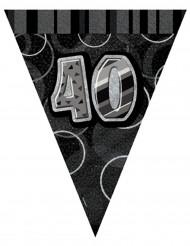 Grijze 40 jaar verjaardagsslinger