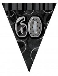 Grijze 60 jaar vlaggenslinger