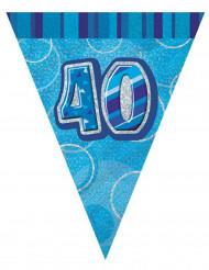 Blauwe 40 jaar verjaardagsslinger
