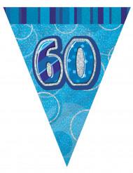 Blauwe 60 jaar verjaardagsslinger