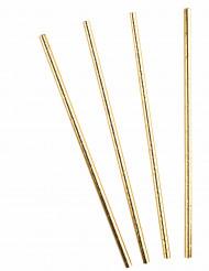 10 metallic goudkleurige rietjes