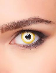 Gele cirkels contactlenzen voor volwassenen