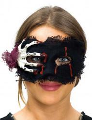 Stof masker met skelethand voor vrouwen