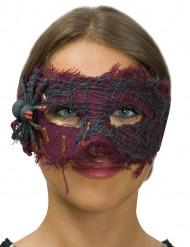 Paars masker met spin voor vrouwen