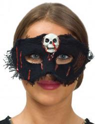 Masker van stof met schedel voor vrouwen