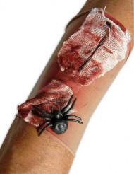 Bloederige wond met spin mouw voor volwassenen