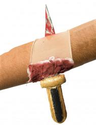 Bloederige wond met mes mouw voor volwassenen
