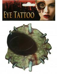 Zombie oog neptatoeage voor volwassenen