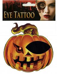 Pompoen oog tatoeage voor volwassenen