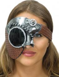 Zilverkleurig Steampunk halfmasker voor vrouwen
