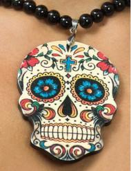 Dia de los Muertos doodskop halsketting voor vrouwen