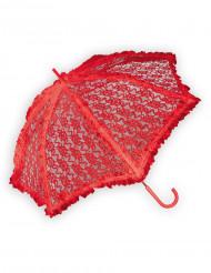 Rode parasol van kantstof