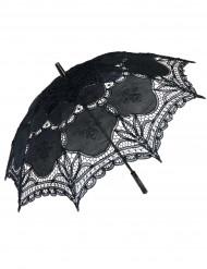 Luxe zwarte parasol van kant