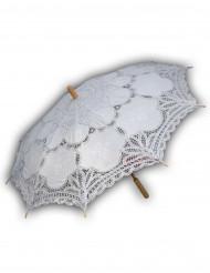 Luxe witte parasol van kant