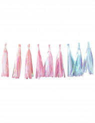 Regenboogkleurige pastel franje slinger