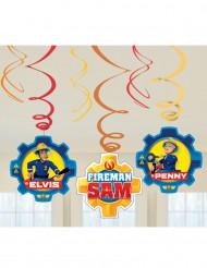 6 hangversieringen Brandweerman Sam™