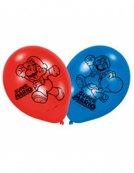 6 latex Super Mario™ ballonnen